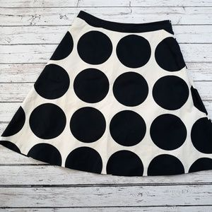BODEN A-Line Geometric Circle Dot Skirt Size 10
